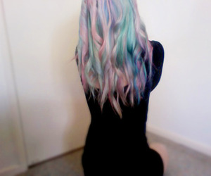 hair, girl, and pastel image