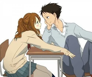 anime, tonari no kaibutsu-kun, and couple image