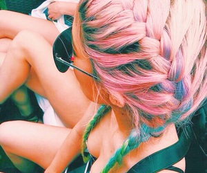 braids, colorful, and girl image