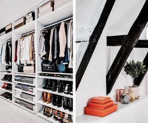 clothes, interior, and closet image
