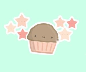 cartoon, cupcake, and sweets image