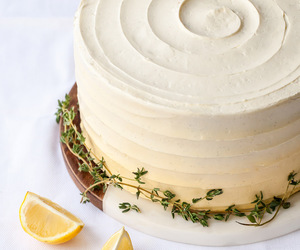 buttercream, cake, and curd image