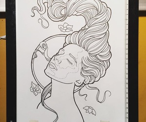 drawing, illustration, and linework image