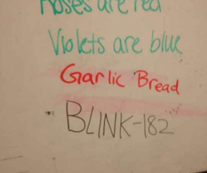 blink 182, poem, and funny image