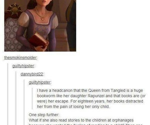tangled, disney, and book image