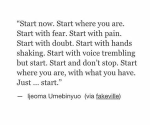 quote, start, and text image