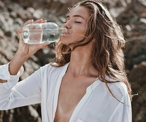 girl, water, and model image