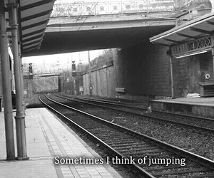 suicide, sad, and jump image