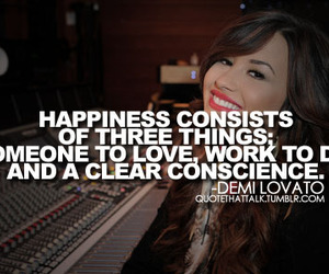 demi lovato, clear, and happiness image