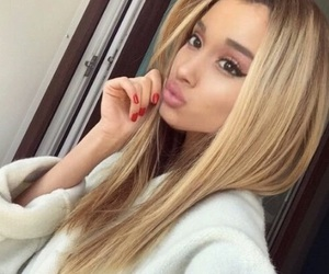 ariana grande, blonde, and hair image