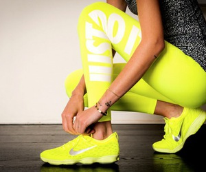 nike, fitness, and yellow image
