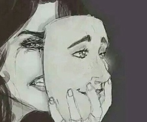 sad, mask, and cry image