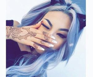 hair, henna, and nails image
