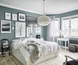 bedroom, home, and rooms image