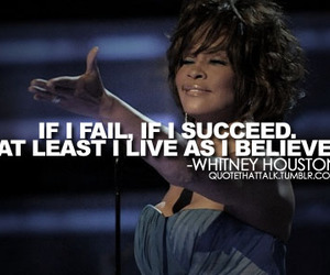 quote and whitney houston image