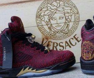Versace, shoes, and jordan image