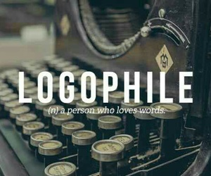 words, logophile, and book image