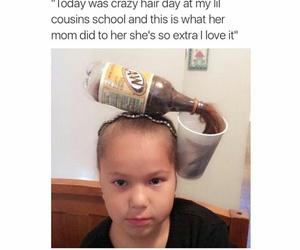 funny, haha, and hair image