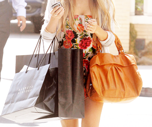 shopping, girl, and bag image