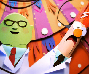 beaker, muppets, and Paper image