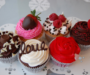 cupcake, love, and chocolate image