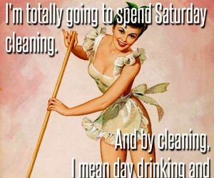 cleaning, drinking, and funny image