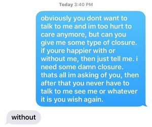 alone, break up, and texts image
