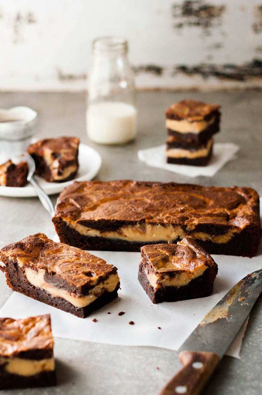 food, dessert, and brownies image
