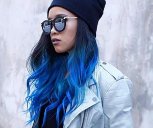beautiful, blue, and cabelo image