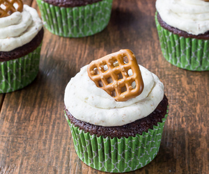 cupcakes, chocolate, and dessert image