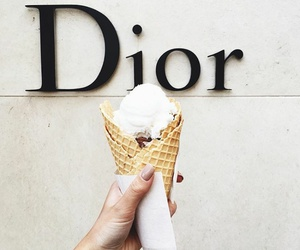 ice cream, dior, and food image