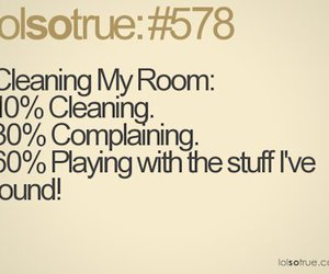 funny, cleaning, and room image