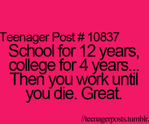 school, work, and college image