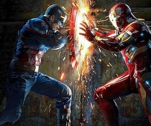 civil war, team cap, and team iron man image