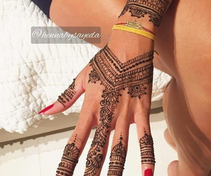 arabic, indian, and nails image