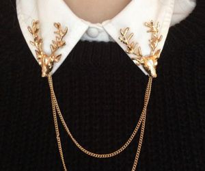 gold, accessories, and deer image
