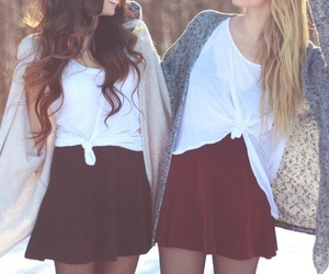 best friends, outfit, and friends image