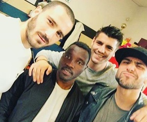 Juventus, alvaro morata, and leonardo bonucci image