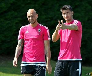 Juventus, alvaro morata, and simone zaza image