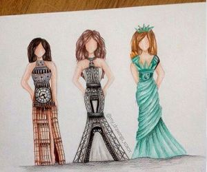 dress, london, and paris image