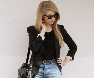 fashion, blonde, and style image