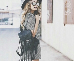 blonde, bohemian, and style image
