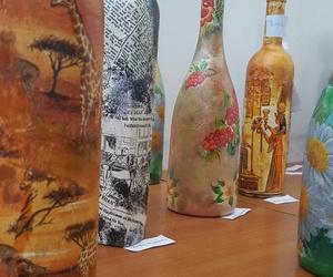 art, girrafe, and bottles image