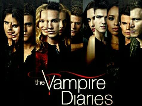 the vampire diaries, elena gilbert, and stefan salvatore image