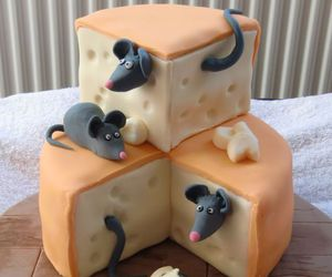 cake, cheese, and mouse image