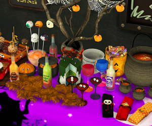 party, sims, and halloween party image