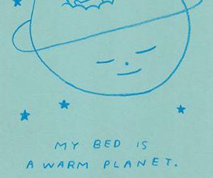 bed, sleep, and drawing image
