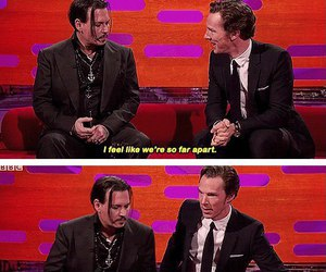 funny, benedict cumberbatch, and johnny depp image