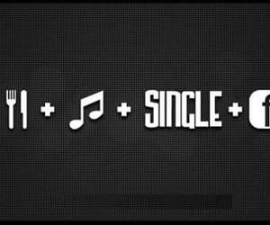 music, facebook, and single image