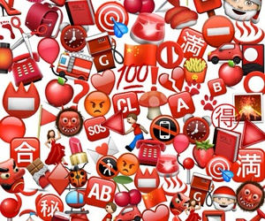 red, fondos, and emojis image